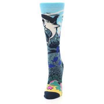 Image of Blue Ocean Shark Women's Dress Socks (side-2-front-06)