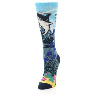 Image of Blue Ocean Shark Women's Dress Socks (side-2-front-07)