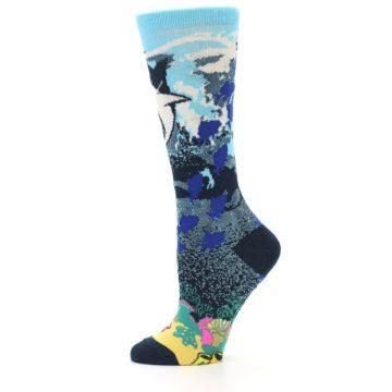 Image of Blue Ocean Shark Women's Dress Socks (side-2-11)