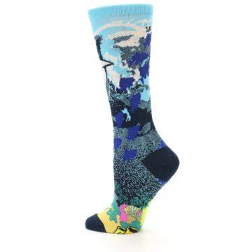 Image of Blue Ocean Shark Women's Dress Socks (side-2-13)