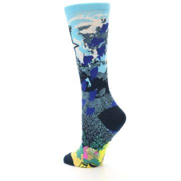 Image of Blue Ocean Shark Women's Dress Socks (side-2-back-14)