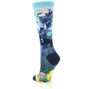 Image of Blue Ocean Shark Women's Dress Socks (side-2-back-15)