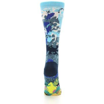 Image of Blue Ocean Shark Women's Dress Socks (back-19)