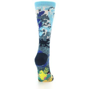 Image of Blue Ocean Shark Women's Dress Socks (side-1-back-20)