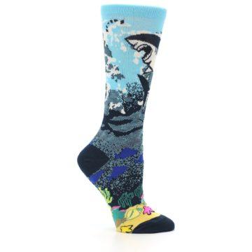 Image of Blue Ocean Shark Women's Dress Socks (side-1-25)