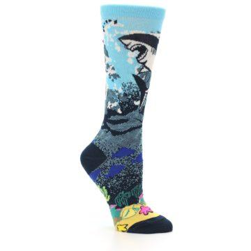 Image of Blue Ocean Shark Women's Dress Socks (side-1-26)