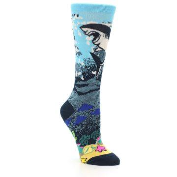 Image of Blue Ocean Shark Women's Dress Socks (side-1-27)