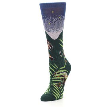 Image of Endangered Cats Tiger Women's Dress Socks (side-2-front-08)
