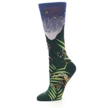 Image of Endangered Cats Tiger Women's Dress Socks (side-2-10)