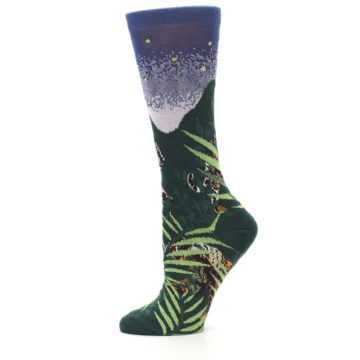 Image of Endangered Cats Tiger Women's Dress Socks (side-2-11)