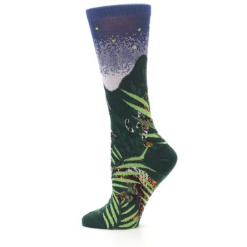 Image of Endangered Cats Tiger Women's Dress Socks (side-2-12)