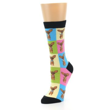 Image of Chihuahua Women's Dress Socks (side-2-front-08)