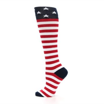 Image of American Flag Women's Knee High Socks (side-2-12)