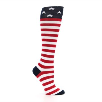 Image of American Flag Women's Knee High Socks (side-1-25)