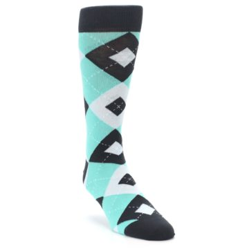 Image of Spa Green Gray Argyle Men's Dress Socks (side-1-front-02)
