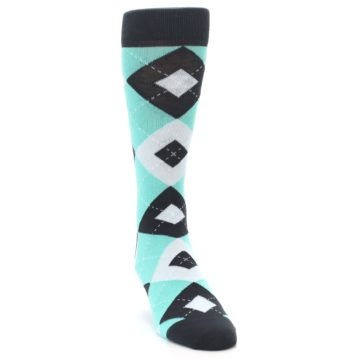 Image of Spa Green Gray Argyle Men's Dress Socks (side-1-front-03)