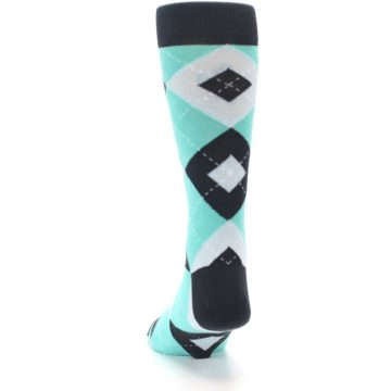 Image of Spa Green Gray Argyle Men's Dress Socks (back-17)