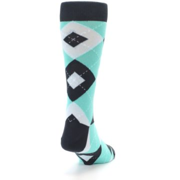 Image of Spa Green Gray Argyle Men's Dress Socks (side-1-back-20)