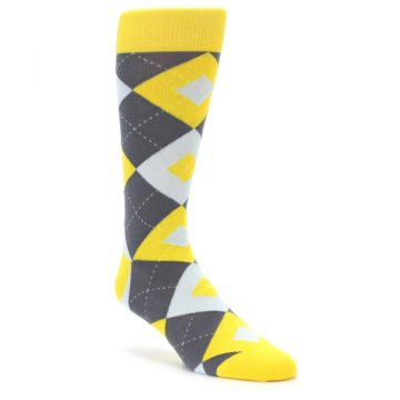 Golden Yellow Argyle Groomsmen Socks