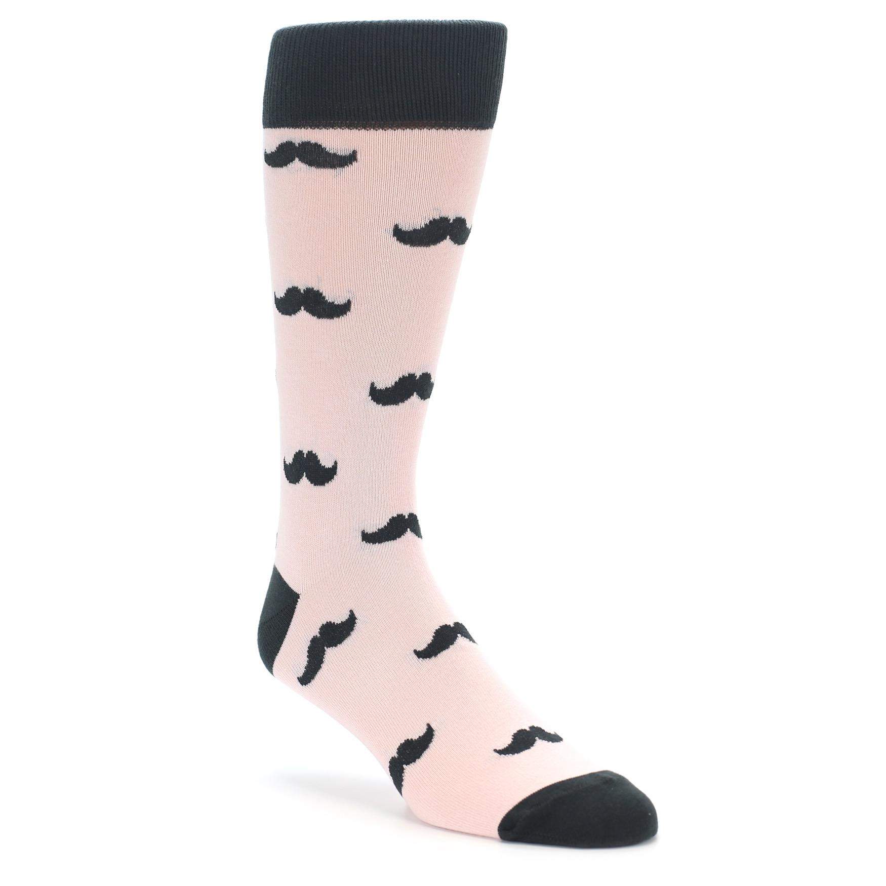 107e2dc7090c Petal Pink Moustache Wedding Socks. Image of Pink Blush Mustache Wedding  Groomsmen Men's Dress ...