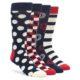 Happy Socks Navy Red White Sock Gift Box