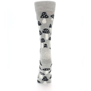 Image of Grey Black Mushrooms Women's Dress Socks (back-18)
