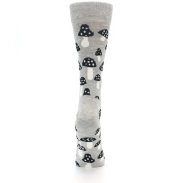 Image of Grey Black Mushrooms Women's Dress Socks (back-19)