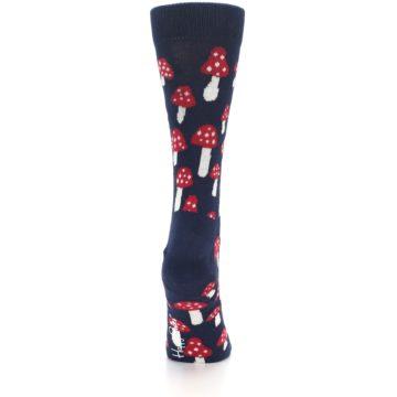 Image of Navy Red Mushrooms Women's Dress Socks (back-19)