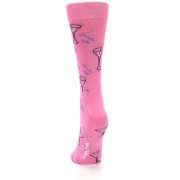 Image of Pink Martini Cocktail Women's Dress Socks (back-17)