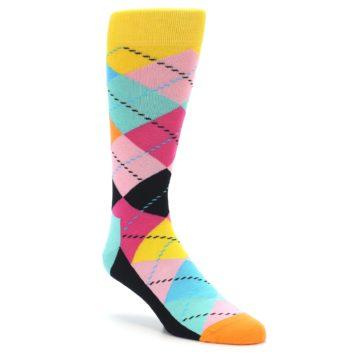 Pink Multi Argyle Happy Socks