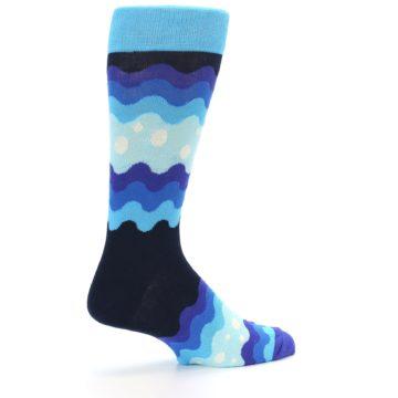 Image of Blues Wave Stripe Men's Dress Socks (side-1-23)