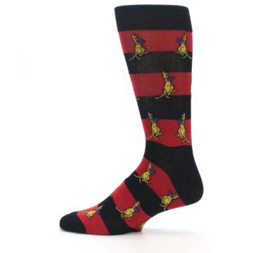 Image of Red Black Boxing Kangroo Men's Dress Socks (side-2-12)