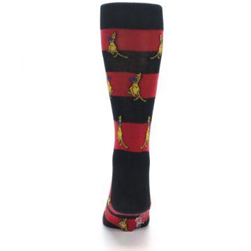Image of Red Black Boxing Kangroo Men's Dress Socks (back-18)