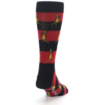 Image of Red Black Boxing Kangroo Men's Dress Socks (side-1-back-20)