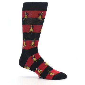 Image of Red Black Boxing Kangroo Men's Dress Socks (side-1-25)