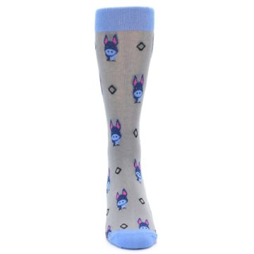 Image of Grey Blue Donkey Men's Dress Socks (front-04)