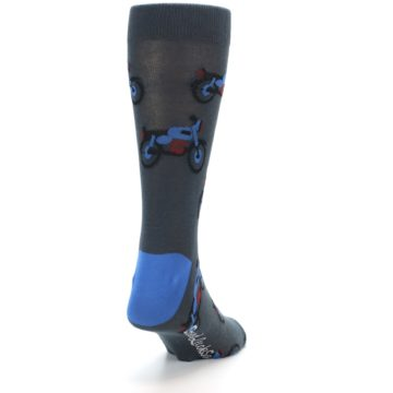 Image of Grey Motorcycles Men's Dress Socks (side-1-back-20)