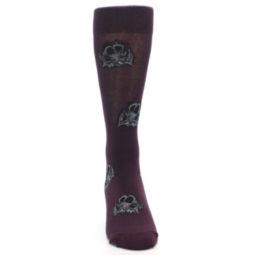 Image of Purple Triceratops Men's Dress Socks (front-04)