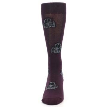 Image of Purple Triceratops Men's Dress Socks (front-05)