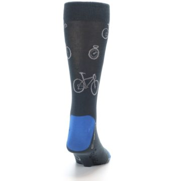 Image of Grey Blue Bikes Men's Dress Socks (back-19)