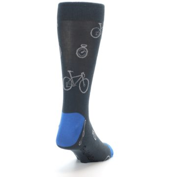 Image of Grey Blue Bikes Men's Dress Socks (side-1-back-20)