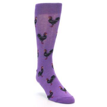 Image of Purple Roosters Men's Dress Socks (side-1-front-02)
