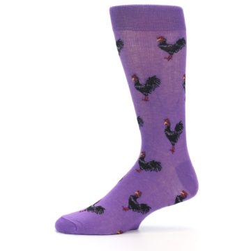 Image of Purple Roosters Men's Dress Socks (side-2-11)