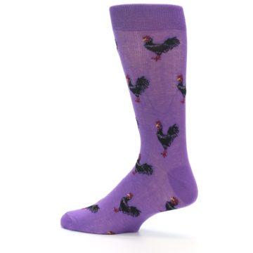 Image of Purple Roosters Men's Dress Socks (side-2-13)