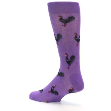 Image of Purple Roosters Men's Dress Socks (side-2-back-14)