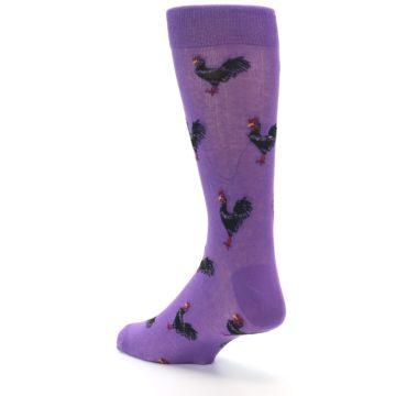 Image of Purple Roosters Men's Dress Socks (side-2-back-15)