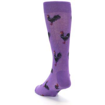 Image of Purple Roosters Men's Dress Socks (side-2-back-16)