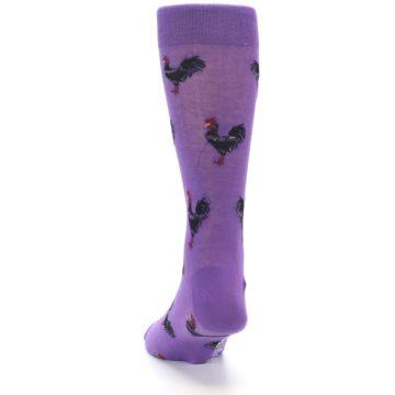 Image of Purple Roosters Men's Dress Socks (back-17)