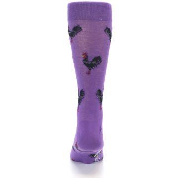 Image of Purple Roosters Men's Dress Socks (back-18)
