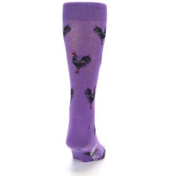 Image of Purple Roosters Men's Dress Socks (back-19)